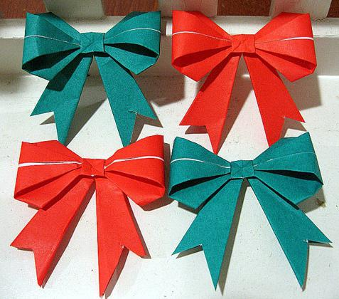origami from paper bow
